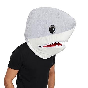 Bristol BM558 - Máscara de tiburón unisex, color plateado y blanco