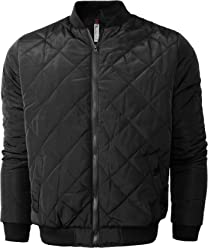 317453acb6e Hat and Beyond Mens Quilted Padded Bomber Jackets Lightweight Casual Zip Up  Insulated Puffer