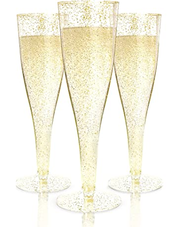 1b54fc2197be Plastic Champagne Flutes Disposable - 100 Pack