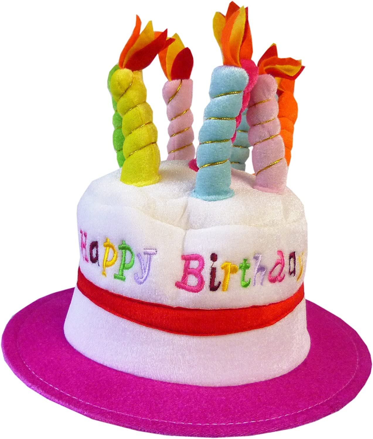 Incredible Amazon Com Out Of The Blue Adult Novelty Birthday Cake Hat Pink Funny Birthday Cards Online Alyptdamsfinfo