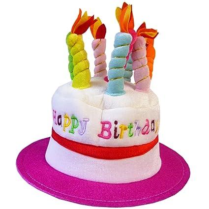 Brilliant Adult Novelty Birthday Cake Hat Pink Amazon Co Uk Toys Games Funny Birthday Cards Online Hendilapandamsfinfo