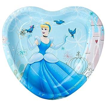 Cinderella \u0027Dreamland\u0027 Large Heart Shaped Paper Plates ...  sc 1 st  Amazon.com & Amazon.com: Cinderella \u0027Dreamland\u0027 Large Heart Shaped Paper Plates ...