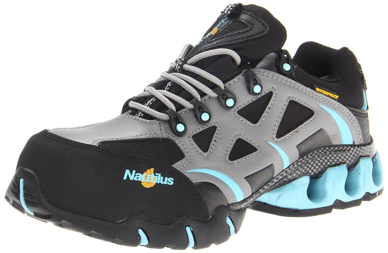 Nautilus Safety Footwear Women's 1852 Work Shoe B005BKARQQ 7.5 B(M) US|Grey/Aqua
