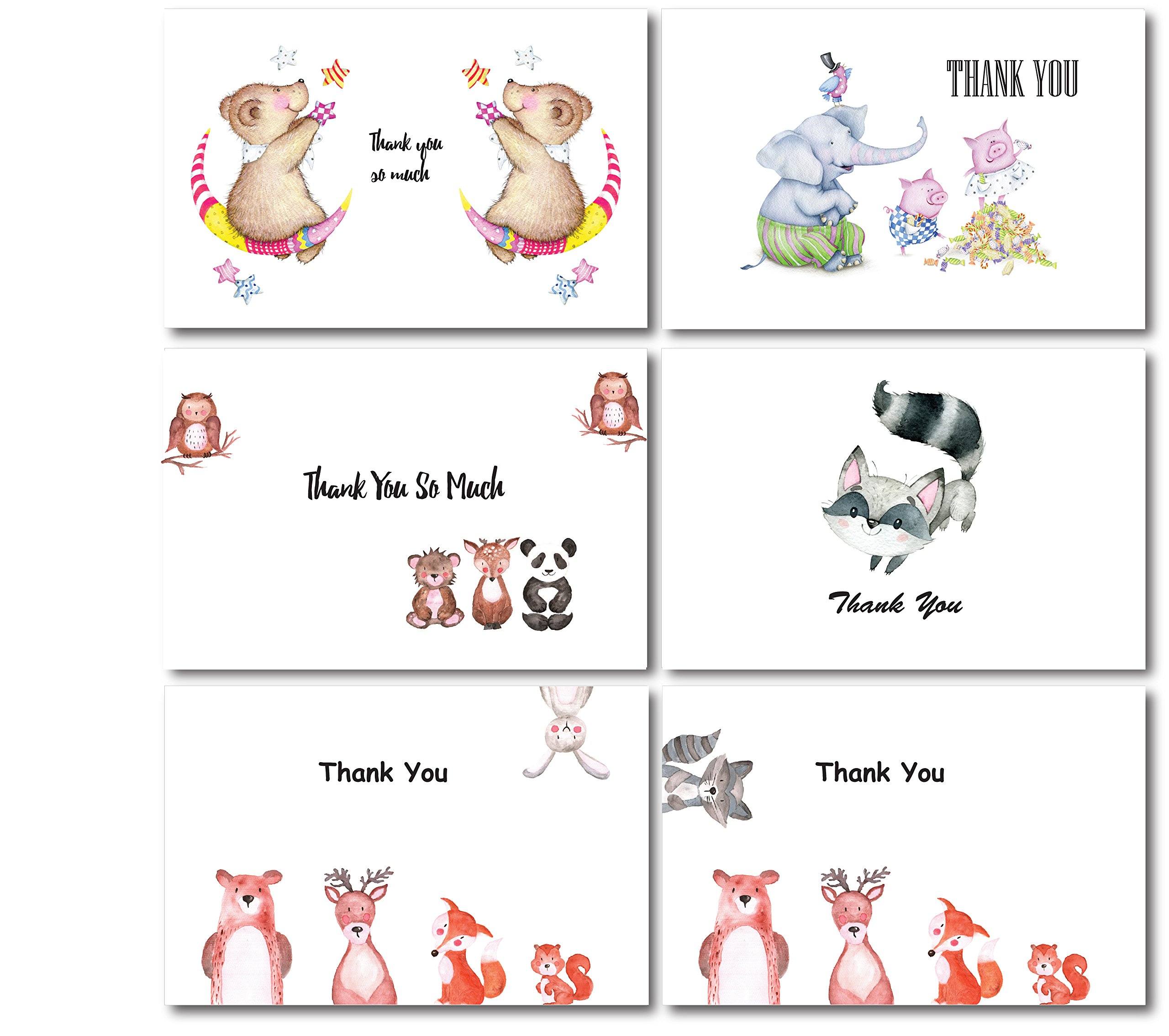 Cute animals thank you greeting cards baby showers celebrations cute animals thank you greeting cards baby showers celebrations kids toddlers birthdays parties 36 m4hsunfo