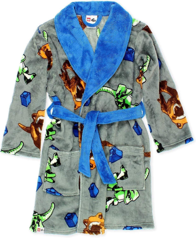 Lego Jurassic World Dinosaur Boys Fleece Bathrobe Robe: Clothing