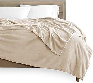 Bare Home Microplush Fleece Blanket - King Size - Ultra-Soft Velvet - Luxurious Fuzzy Fleece Fur - Cozy Lightweight - Easy Care - All Season Premium Bed Blanket (King, Oyster)