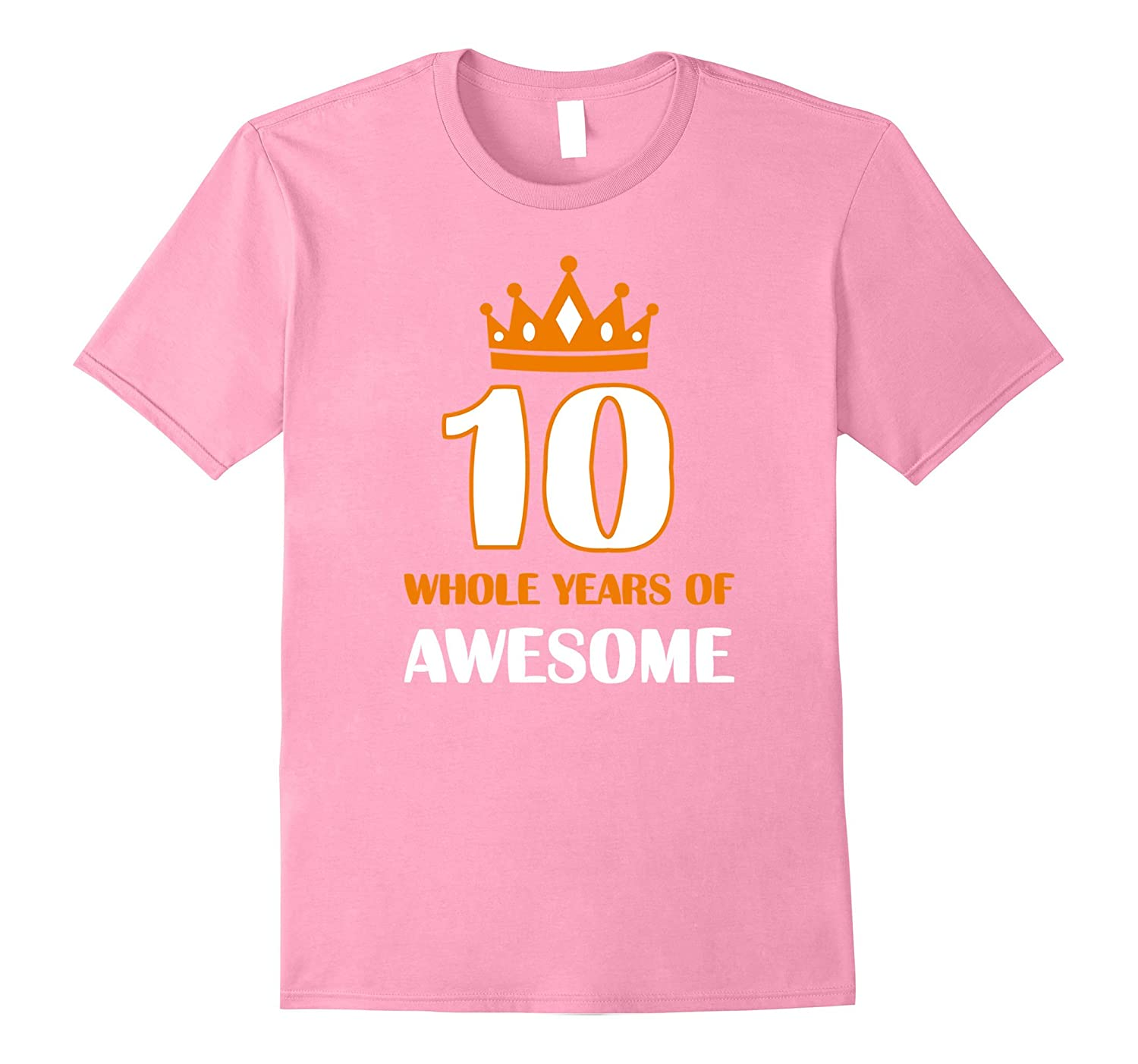 10th Birthday Gift T-Shirt Kids 10 Whole Years of Awesome Te-CD