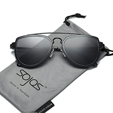 e91005d4611 Image Unavailable. Image not available for. Colour  SOJOS Classic Aviator Mirrored  Lenses Sunglasses for Men   Women ...