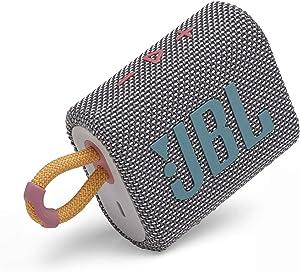 JBL Go 3: Portable Speaker with Bluetooth, Built-in Battery, Waterproof and Dustproof Feature - Gray (JBLGO3GRYAM)