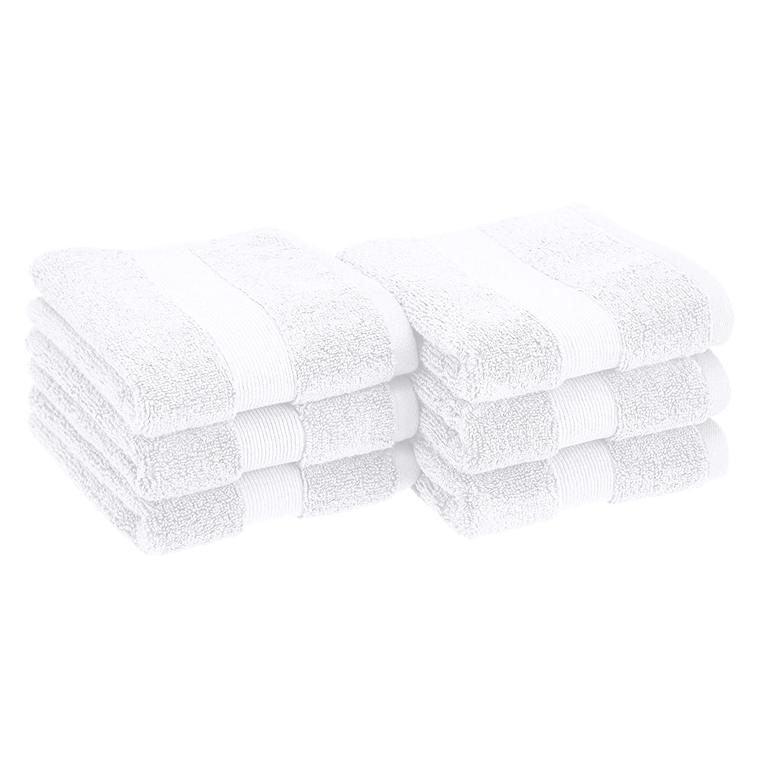 AmazonBasics Dual Performance Hand Towel - 6-Pack, Scenic Snow