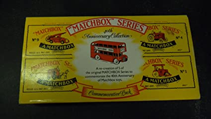 Matchbox 40th Anniversary Collection Commemorative Pack with 5 Vehicles