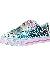 Skechers Girls Twinkle LITE-Sparkle Scales Sneakers
