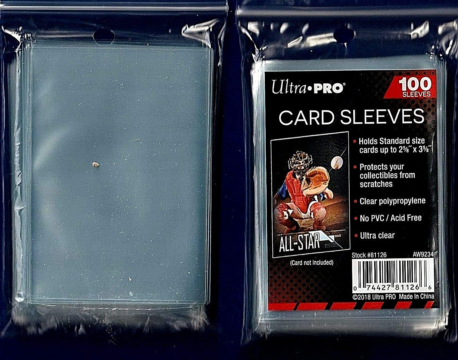Ultra Pro 5 (Five) Pack Lot of 100 Soft Sleeves/Penny Sleeve for Baseball Cards & Other Sports Cards: Sports & Outdoors