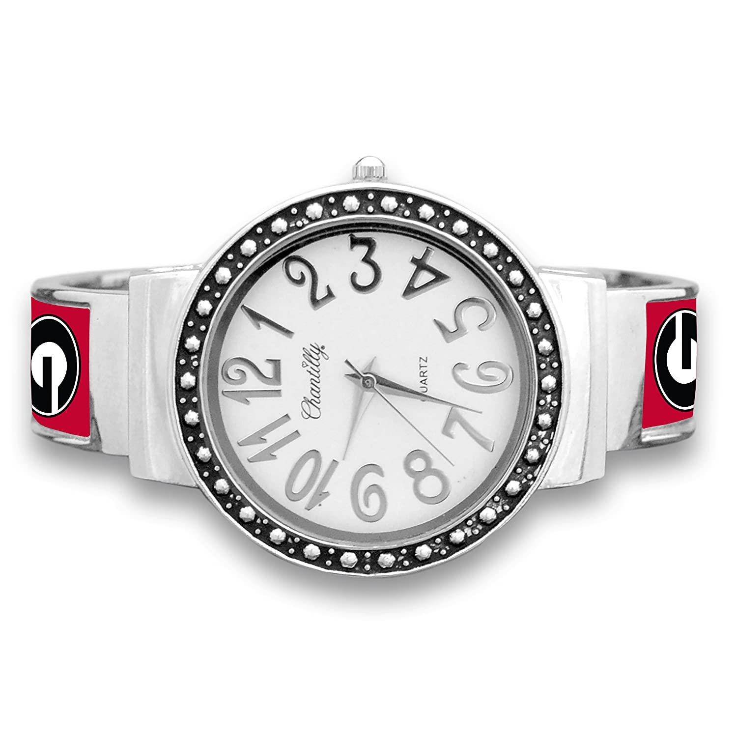 FTH Georgia Bulldogs Cuff Watch with Silver Tone Accent