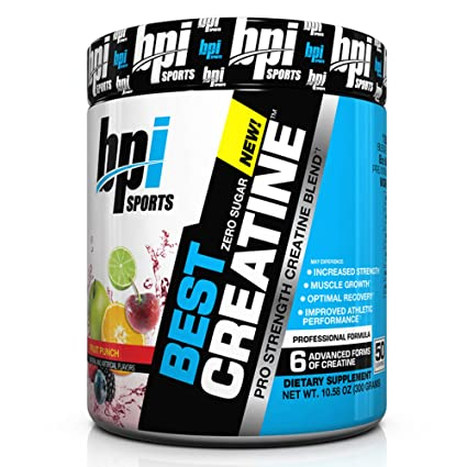 BPI Sports Complemento deportivo creatina 50 Porciones Ponche de frutas