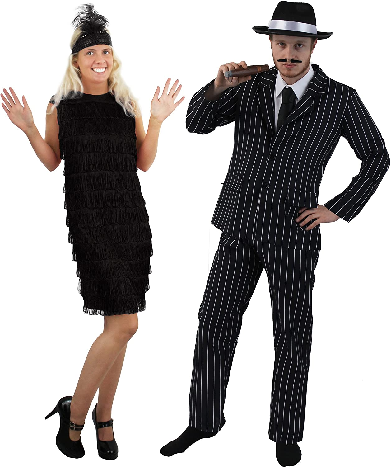 1920s Gangster and Flapper Girl Costumes for Couple