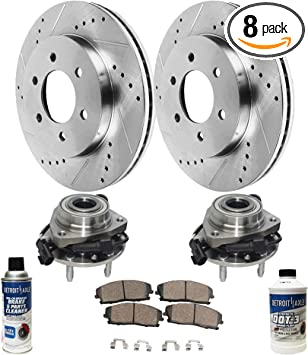 Front And Rear Brake Rotors For V6 CHEVY TRAILBLAZER BUICK RAINIER SSR GMC ENVOY