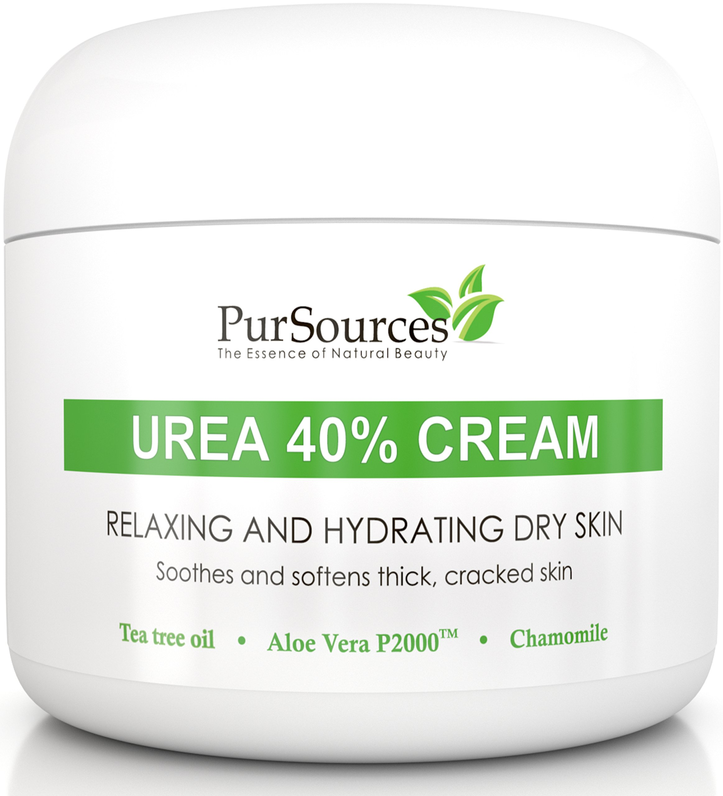 PurSources Urea 40% Foot Cream 4 oz - Best Callus Remover - Moisturizes & Rehydrates Thick, Cracked, Rough, Dead & Dry Skin - For Feet, Elbows and Hands + Free Pumice Stone - 100% Money Back Guarantee