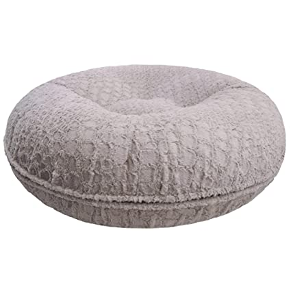 Outstanding Amazon Com 60 Inches Light Grey Donut Pet Bed Extra Large Theyellowbook Wood Chair Design Ideas Theyellowbookinfo