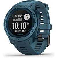 $212 » Garmin Instinct, Rugged Outdoor Watch with GPS, Features GLONASS and Galileo, Heart Rate…