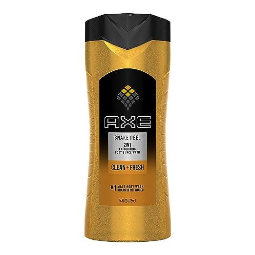 AXE Exfoliating Body Wash for Men, Snake Peel, 16 oz