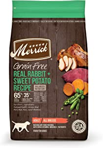 Merrick Grain Free Dry Dog Food Real Rabbit & Sweet Potato Recipe - 4.0 lb Bag