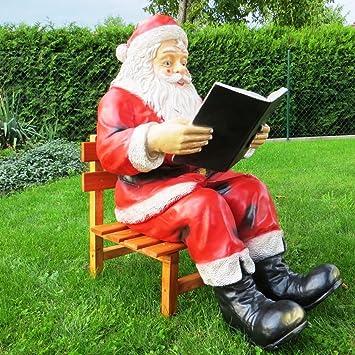Cudek Figurenhandel Xxl Weihnachtsmann Mit Buch Und Stuhl