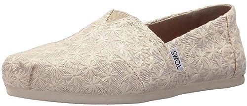 5944f715504 TOMS Classic Natural Daisy Metallic Womens Espadrilles Shoes  Amazon ...