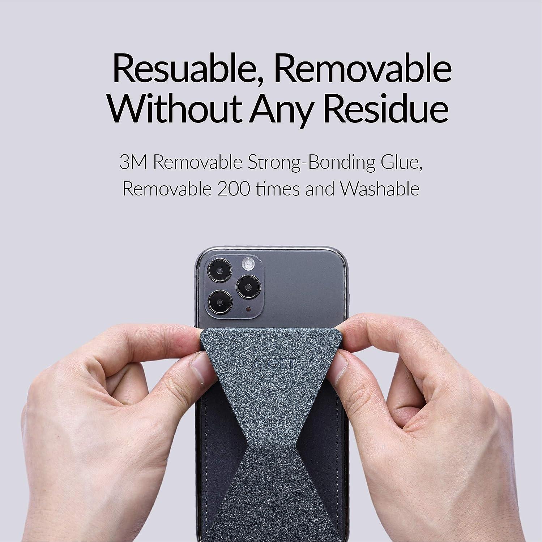 MOFT Multifunktion Handy St/änder kompatibel mit iPhone Samsung Galaxy Handy Halterung 2D Falten Ultra leicht klebend,Handyhalterung Huawei,Xiaomi,Redmi,Android Smartphones -Grau