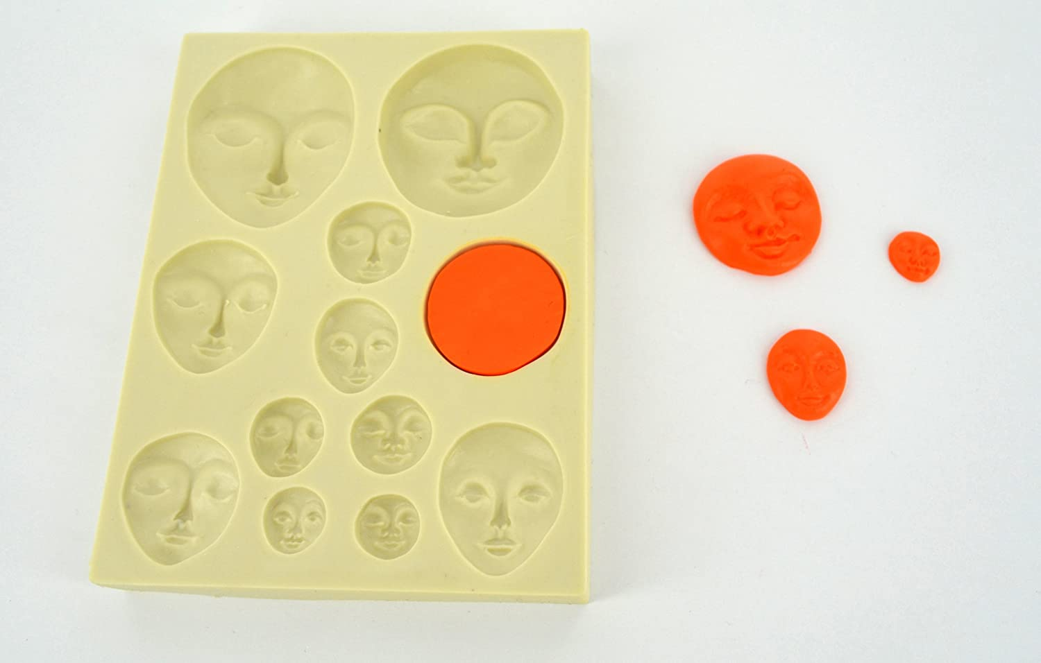 Art Doll Faces Sculpey® Push Mold a press mould for use with clay