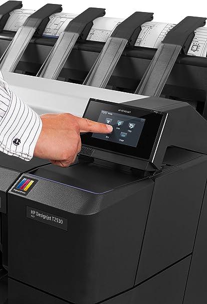 HP Designjet T2530 - Impresora de gran formato (HP-GL/2, HP-RTL, PDF 1.7, PostScript 3, TIFF, URF, 2400 x 1200 DPI, Cian, Gris, Magenta, Negro mate, Foto negro, Amarillo, A0 (841 x 1189