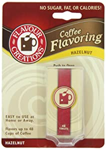Flavour Creations Coffee Flavoring Tablets, Hazelnut, 48-Count Dispensers (Pack of 6)