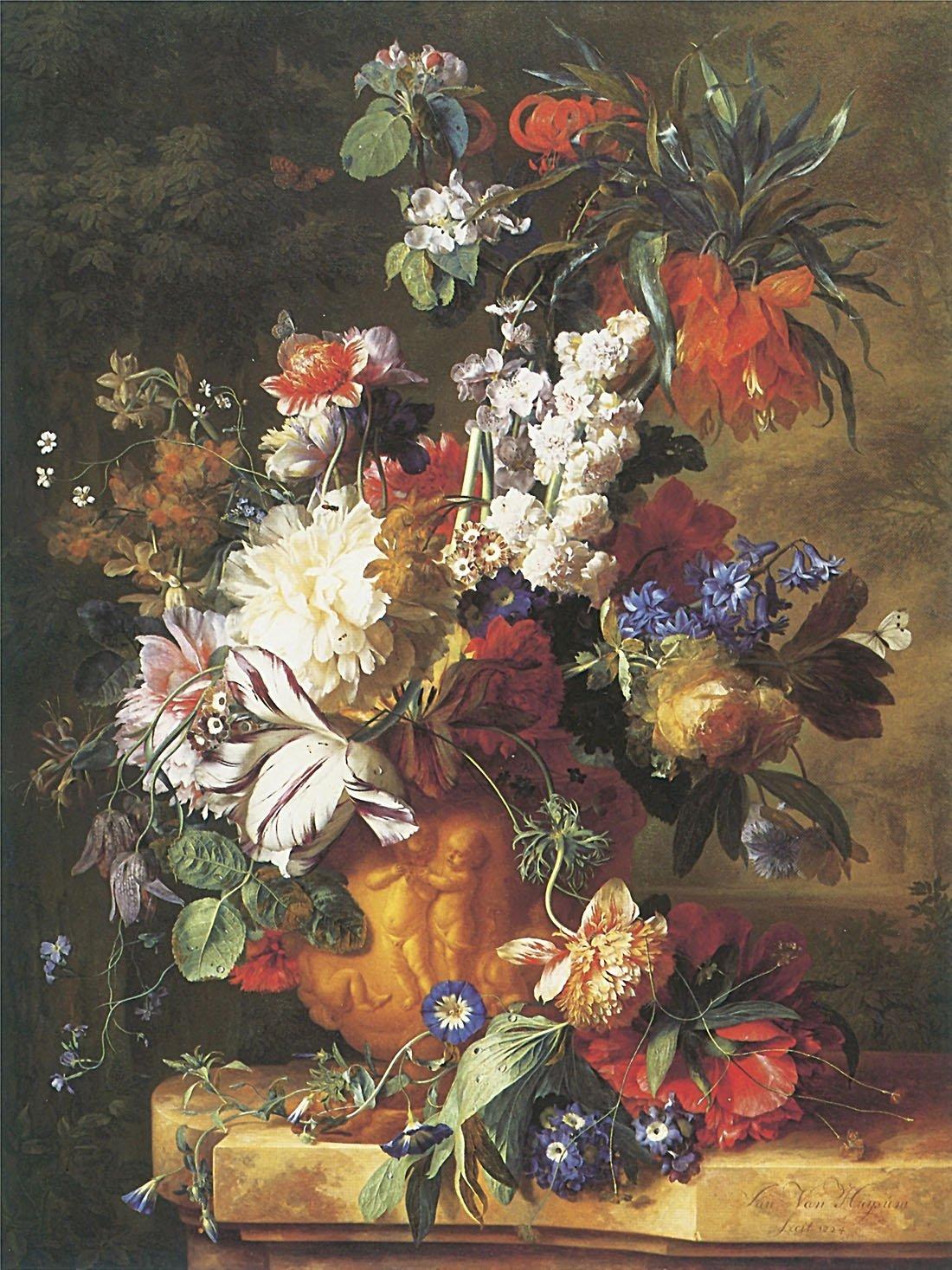Boquetの花のUrn – キャンバスでまたはFine印刷壁アート Fine Paper - 18 x 24 Fine Paper - 18 x 24  B008IHGPEM