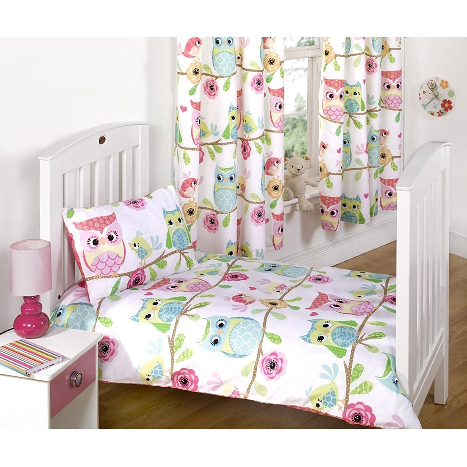 Owl Curtains For Bedroom Owl Lamp Light Lampshade Pink Owl Bedside Bedroom Table Desk Lamp