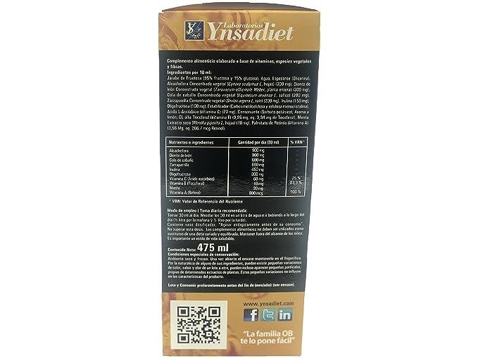 Jarabe Ob3 DRENANT 475 ml depurativo desintoxicante y con propiedades drenantes para adelgazar, control de peso y limpiar el organismo, elimina el exceso de ...