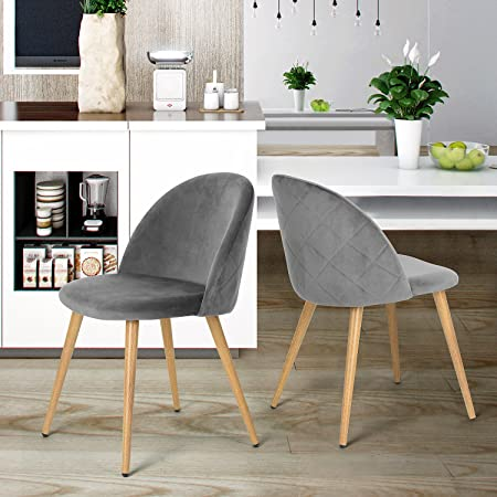 Coavas Dining Chairs Soft Velvet Seat and Back Kitchen Chairs with ...