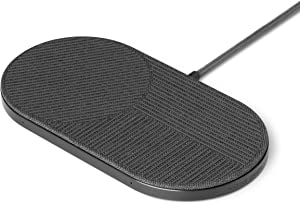 NATIVE UNION Drop XL Wireless Charger – 10W Multi-Device Fast Charging Pad Compatible with iPhone & Qi Compatible Devices (Adapter for US, Europe and UK Included)