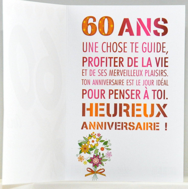 Amazoncom Mv 69 2038 Age 60 Birthday Card Woman Design