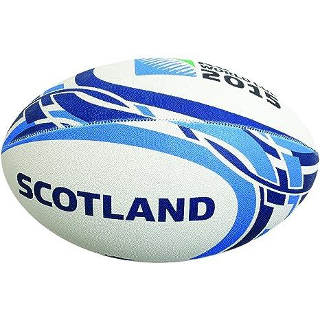 Gilbert RWC 2015 Scotland - Balón de Rugby (tamaño 4), diseño ...