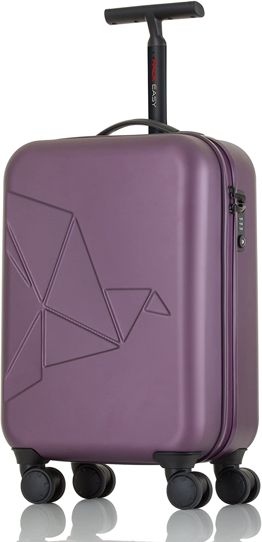 Pack Easy Suitcase Futuro Metallic Cabin-trolley Mit 4 Rollen Aus Polycarbonat 58 Cm 35 Ltr 9908bo PURPLE PURPLE