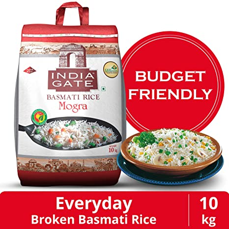 India Gate Basmati Rice Bag, Mogra, 10kg