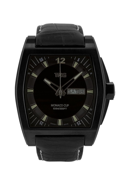TNG Herren-Armbanduhr Analog Leder Schwarz TG667.30572.04PV