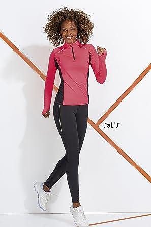 97fea6e3d125a Sol'S London - Legging Running Femme - Style Sportswear - Détails  réfléchissants avec Poche pour clé