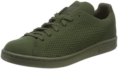 innovative design 4d59b cba20 adidas Unisex Adults  Stan Smith Primeknit Low-Top Sneakers, Grey (Night  Cargo