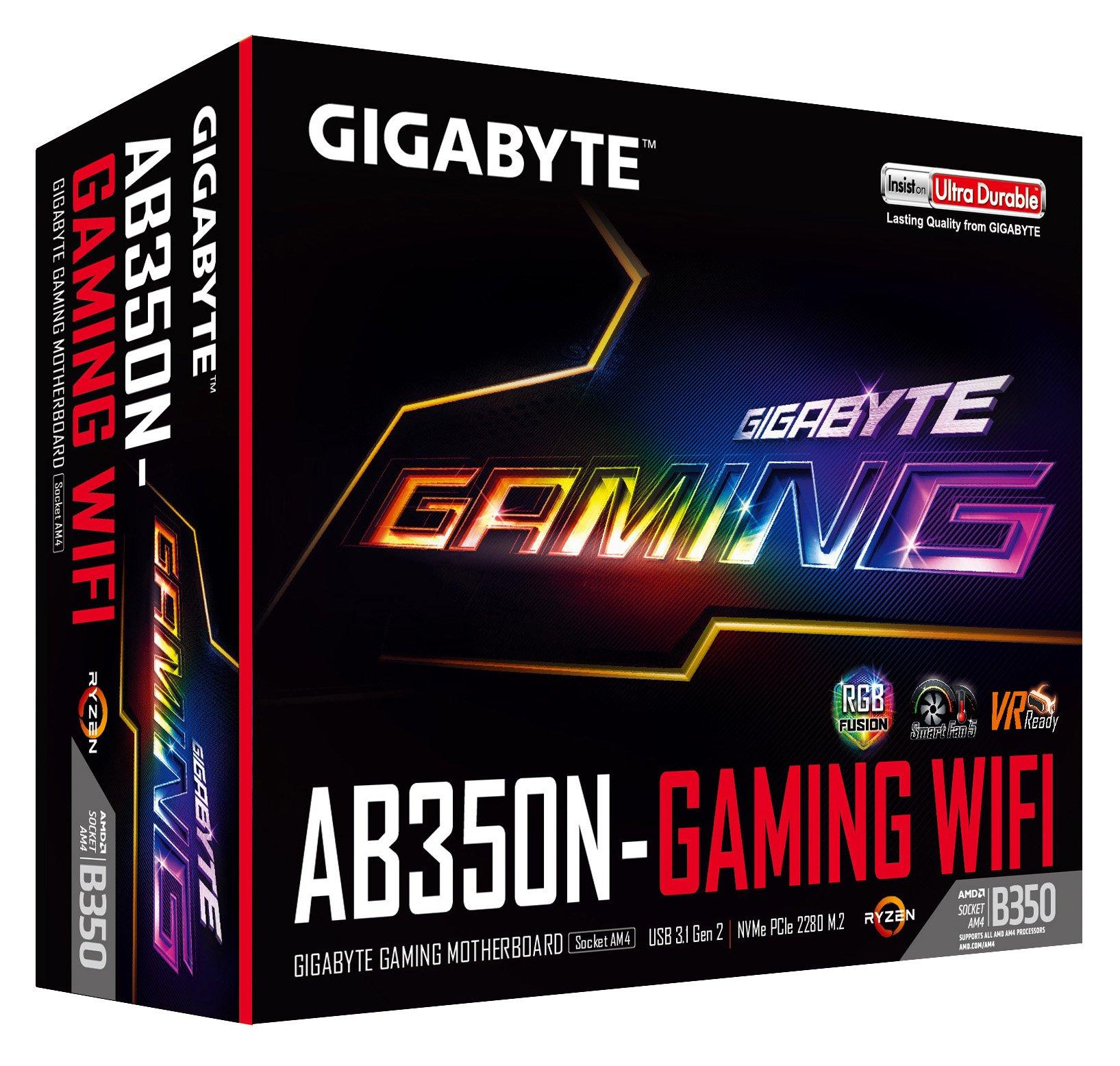 GIGABYTE GA-AB350N-Gaming WIFI (AMD/Ryzen AM4/B350/RGB Fusion/HDMI/DP/M.2/SATA/USB 3.1 Type-A/Wifi/Mini ITX/DDR4 Motherboard) by Gigabyte (Image #4)