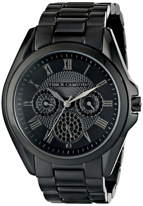 Vince Camuto Damen-Armbanduhr Analog Quarz Edelstahl VC-5187BKBK