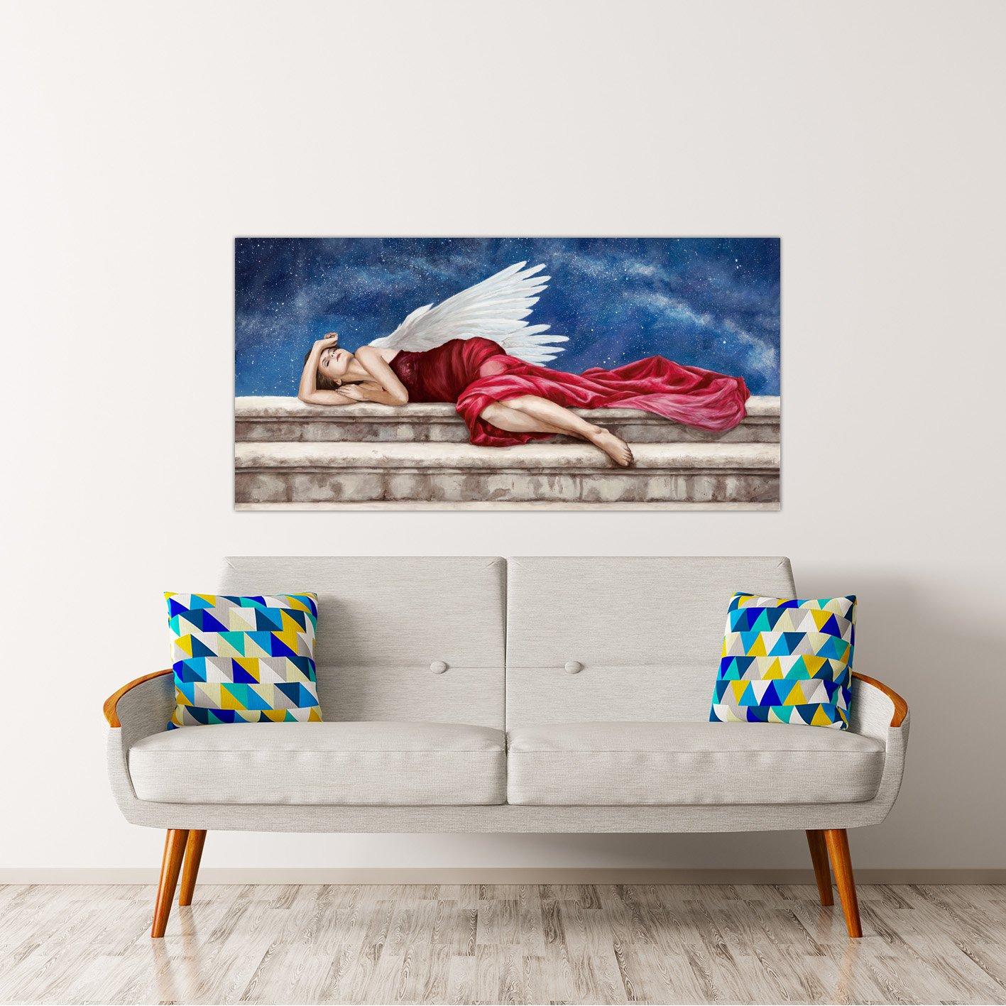 Rahmen Druck Druck Druck auf Leinwand mit Rahmen in Holz Sonya Duval Under A Starry Night 200x100 CM B07BNHQVTG | Moderne und elegante Mode  68d0b0