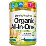 Meal Replacement Shake, Vegan Protein Powder Purely Inspired Organic All In One Plant Based Protein Powder for Women & Men Or