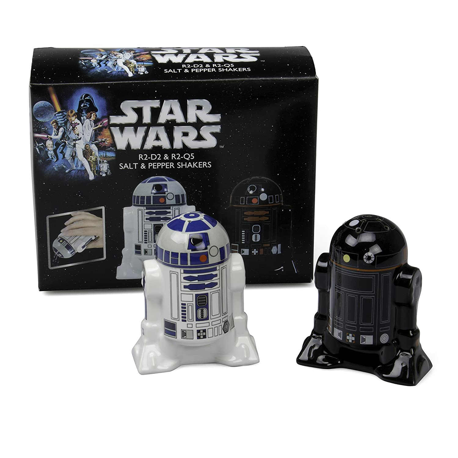 star wars ceramic salt and pepper shakers amazonca home  kitchen -