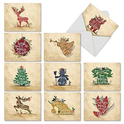 amazon com m6666xsg holiday knockout 10 assorted christmas notem6666xsg holiday knockout 10 assorted christmas note cards assorted christmas notecards with envelopes